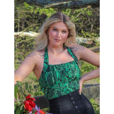 Foto van Collectif | Haltertop Kaylee Tropics groen