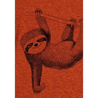 Foto van Green Bomb | T-shirt oranje Animal Sloth bio katoen