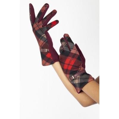 Handschoen Mabel red 40's met riempje