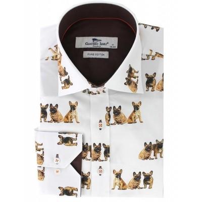 Overhemd Bull Dog print