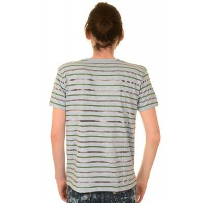 Foto van T-shirt, retro grijs gestreept