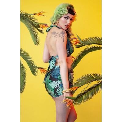Foto van Badpak Skirted Palm, groen