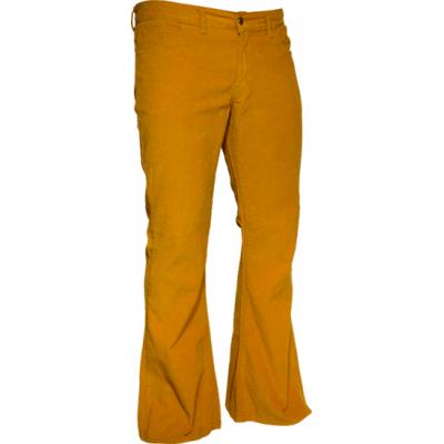 Foto van Ribcord retro broek wijdepijp normale lengte mosterd geel