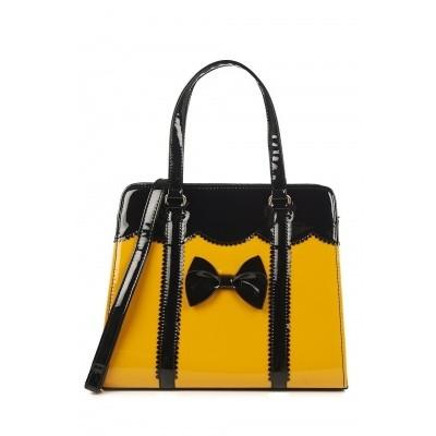 Handtas vintage Juicy Bits, mosterd geel zwart