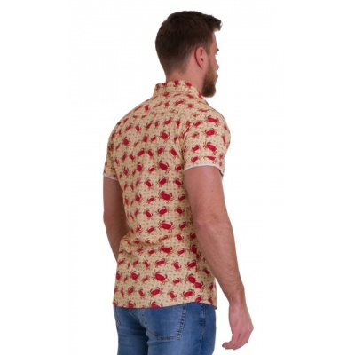 Foto van Overhemd met korte mouw retro krab