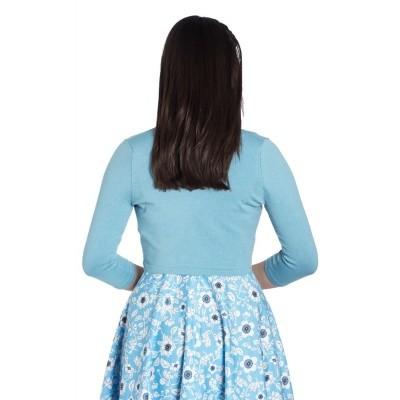 Foto van Bolero Maggie, blauw met drie-kwart mouw