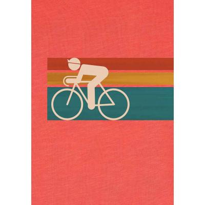 Foto van Green Bomb | T-shirt Bike Speed, bio katoen, sun red