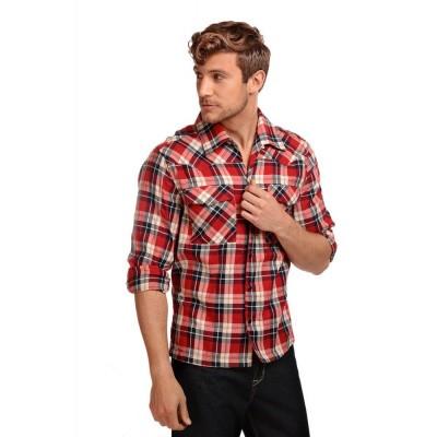 Overhemd Tiago, lange mouw, schotse ruit, tartan rood