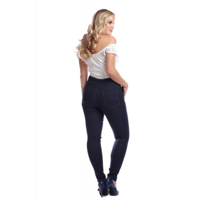 Foto van Collectif | Jeans Rebel Kate, effen stretch denim, hoge taille