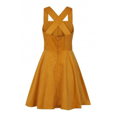 Foto van Jurk Pinafore Wonder Years, mosterdgeel