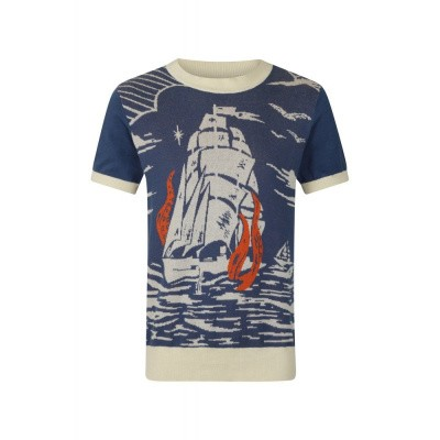 Foto van Collectif-Trui Bobbie Nautical, blauw