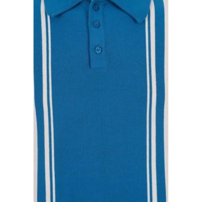 Foto van Polo Pablo, blauw met cremekleurige streep