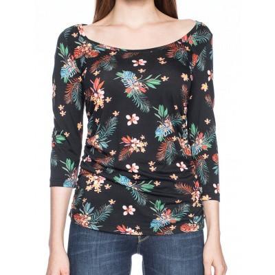 Foto van Shirt Walla 3/4 mouwen met tropische bloemenprint
