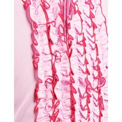 Foto van Chenaski | Overhemd ruche rose pink dark pink trim