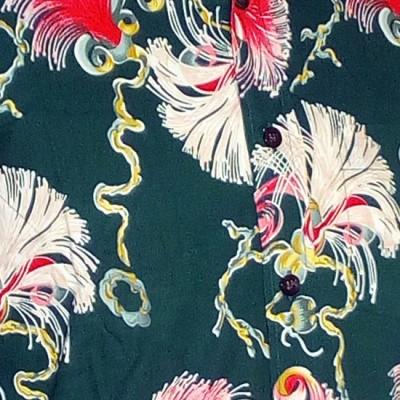Foto van Overhemd retro, Deco cord groen