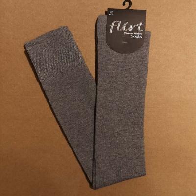 Foto van Flirt | Overknee sokken mediumgrijs