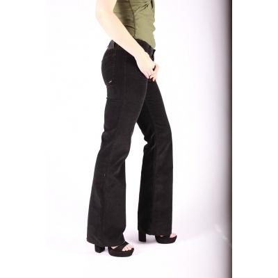 Foto van Ribcord broek met wijde pijp Newton Zwart