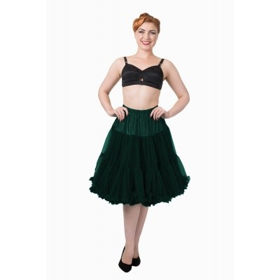 Foto van Petticoat Starlite over de knie met extra volume, bottle green