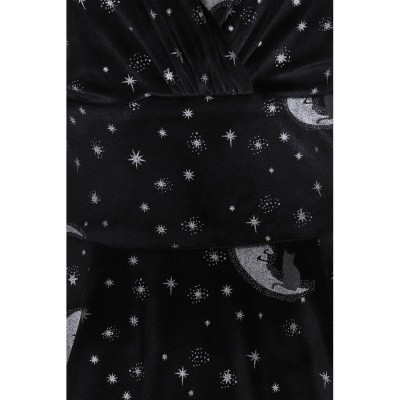 Foto van Jurk Trixie Doll, Midnight Moon, driekwart mouw, zwart