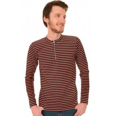 Foto van Shirt met lange mouwen gestreept retro navy