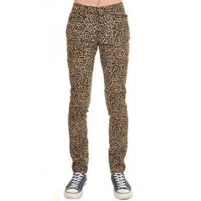 Foto van Broek met luipaard print skinny model