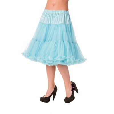 Petticoat Starlite over de knie met extra volume licht-blauw