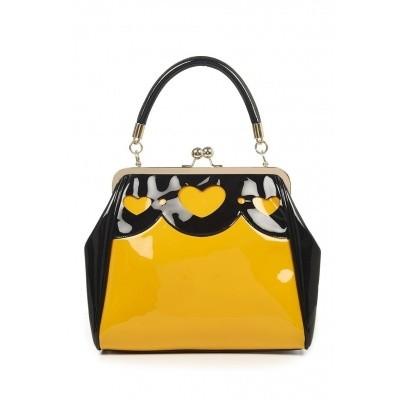Handtas Heartbreaker, zwart geel