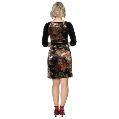 Jurk Velvet dreams, bloemenprint
