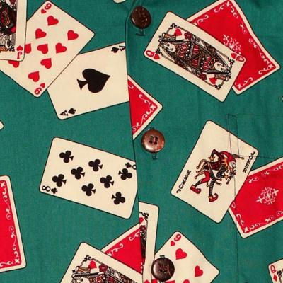 Foto van Chenaski | Overhemd korte mouw, Cards turquoise