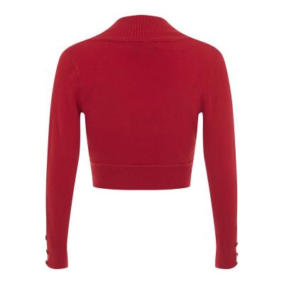 Foto van Collectif | Rode bolero Jean met lange mouw
