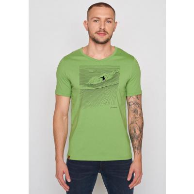 Foto van Green Bomb | T-shirt Nature Surfer, pale green bio katoen
