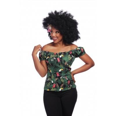 Top Lorena Tropicalia, groen