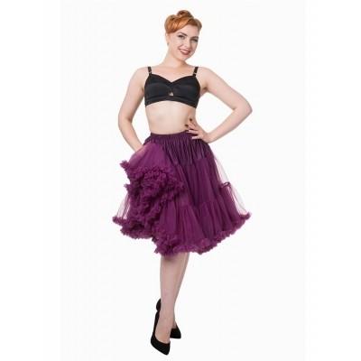 Foto van Petticoat Starlite over de knie met extra volume Aubergine