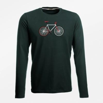 Foto van T-Shirt lange mouw bike easy bio katoen