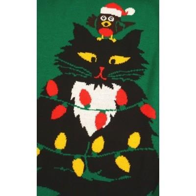 Foto van Jumper, kerstmis miauw super kitsch