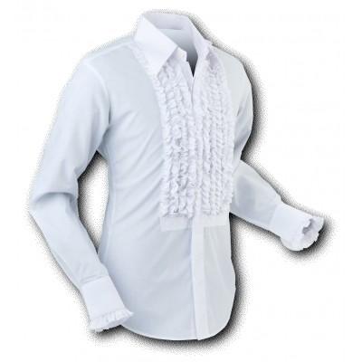 Overhemd ruche, white white trim