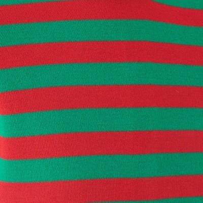 Foto van Retro trui, groen rood gestreept
