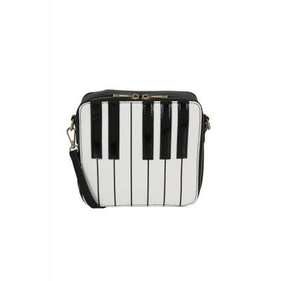 Foto van Schoudertas Mona Piano, zwart wit