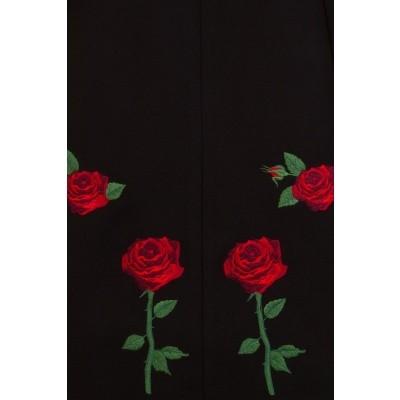 Foto van Winterjas, Rosa Rossa met geborduurde rozen