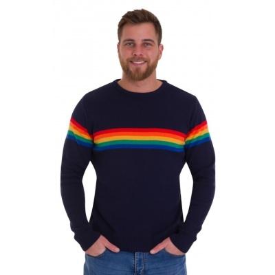 Jumper, navy Retro Rainbow