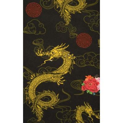 Foto van Overhemd korte mouw, dragon rose