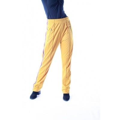 Foto van Sportbroek Runner, geel met strepen op de zijkant