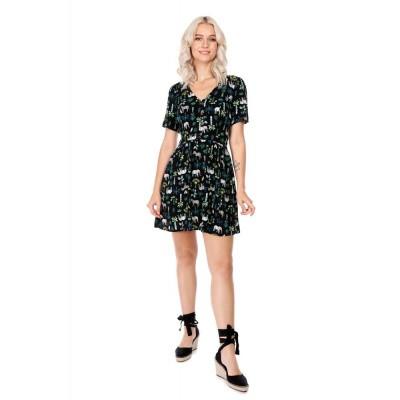 Mini-jurk Misty Wild Safari, zwart