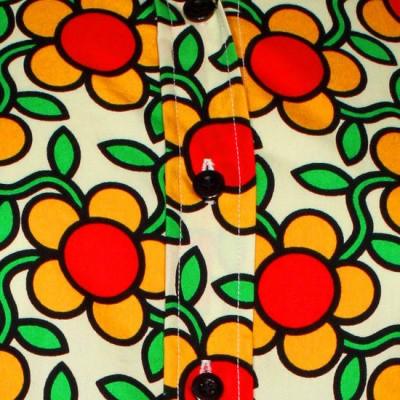 Foto van Chenaski | dames blouse Flowergrid, creme
