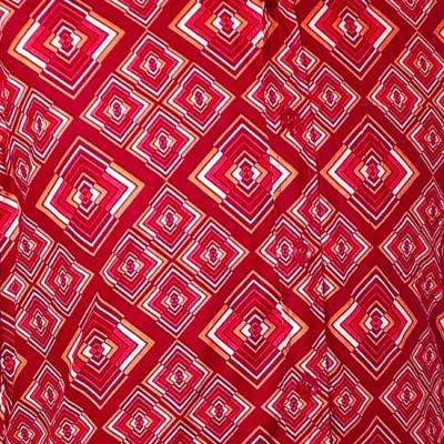 Foto van Overhemd retro, Rhombus rust