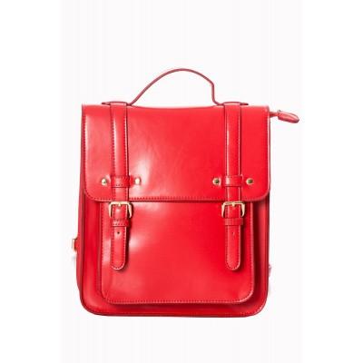 Foto van Handtas rugtas retro vintage Cohen, rood