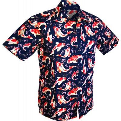 Foto van Overhemd korte mouw, Koi, navy