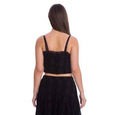 Foto van Banned | Gothic corset top Evie Tie