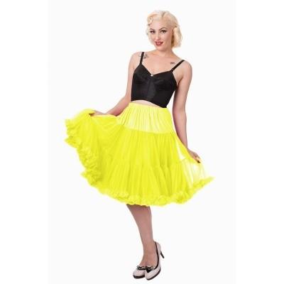 Foto van Petticoat Starlite over de knie met extra volume, geel