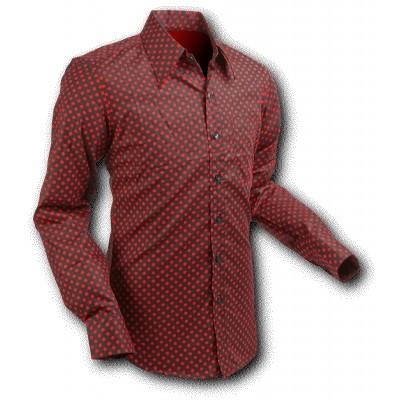 Overhemd Seventies Polka Dots Black Red